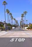 Vista de una calle en San Diego California Imagen de archivo