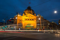 Vista de una ciudad de Melbourne Foto de archivo libre de regalías