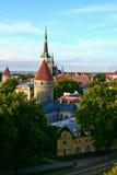 Vista de una ciudad vieja Fotos de archivo