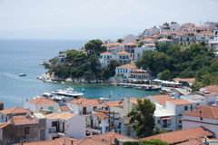 Vista de una isla griega Foto de archivo