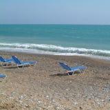 Vista de una playa en Chipre imagen de archivo libre de regalías