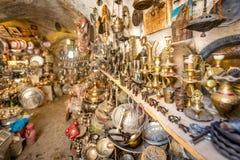 Vista de una tienda en Mardin, Turquía foto de archivo libre de regalías
