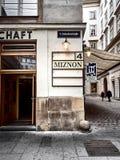 Vista de una tienda en Viena imagen de archivo libre de regalías