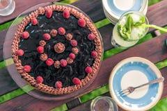 Vista de una torta Imagen de archivo libre de regalías