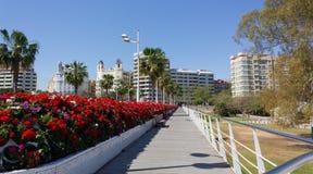 Vista de Valencia foto de archivo