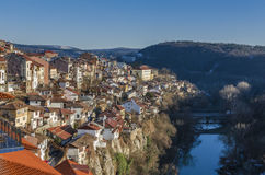 Vista de Veliko Tarnovo en Bulgaria Imagen de archivo libre de regalías