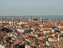 Vista de Venecia (Venezia) y del golfo Imagen de archivo libre de regalías
