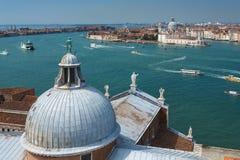 Vista de Veneza da ilha de San Giorgio Fotografia de Stock