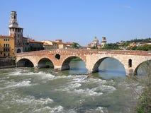 Vista de Verona, Italia. Imagen de archivo