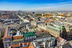 Vista de Viena de la catedral de StStephan Fotografía de archivo