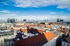 Vista de Viena, panorama da cidade fotografia de stock