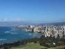 Vista de Waikiki Foto de archivo