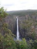 A vista de Wallaman cai em Queensland Austrália do ponto da vista imagem de stock