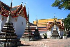 Vista de Wat Po, Bangkok fotografía de archivo libre de regalías