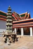Vista de Wat Po, Bangkok Imágenes de archivo libres de regalías