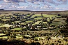 Vista de Widdecombe na amarração Dartmoor Fotografia de Stock Royalty Free