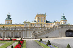 Vista de Wilanow Royal Palace o 8 de agosto de 2013 Foto de Stock Royalty Free