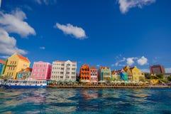 Vista de Willemstad Curaçau, Antilhas holandesas imagens de stock royalty free