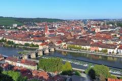 Vista de Wurzburg, Alemania Imágenes de archivo libres de regalías