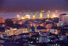 Vista de Yangon, Myanmar. Fotos de archivo