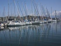 Vista de yates en el puerto de Fethiye, Turquía Imagenes de archivo