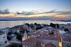 Vista de Zadar, Croácia Imagens de Stock Royalty Free