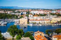 Vista de Zadar, Croacia Fotografía de archivo libre de regalías