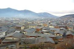 Vista de zhongdian o de Shangri-La Imagenes de archivo