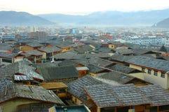 Vista de zhongdian o de Shangri-La Fotos de archivo libres de regalías