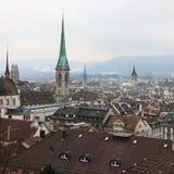 Vista de Zurich Imágenes de archivo libres de regalías