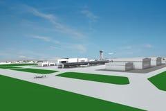 Vista degli aeroplani dell'aerodromo Fotografia Stock Libera da Diritti