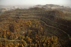 Vista degli appalachi della miniera di carbone fotografia stock libera da diritti