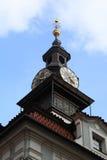 Vista degli orologi ebrei di municipio Immagini Stock