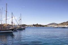 Vista degli yacht di legno Fotografie Stock Libere da Diritti