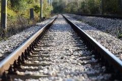Vista dei binari ferroviari Immagini Stock