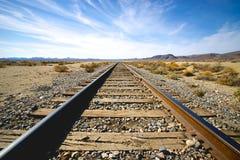 Vista dei binari ferroviari Fotografie Stock Libere da Diritti