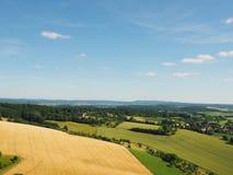 Vista dei campi da sopra Fotografia Stock