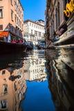 Vista dei canali navigabili di Venezia Fotografia Stock Libera da Diritti
