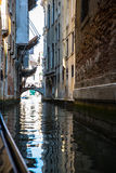 Vista dei canali navigabili di Venezia Immagini Stock