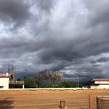 Vista dei cieli di Santa Fe bella Fotografia Stock Libera da Diritti