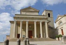 Vista dei Di San Marino della basilica immagine stock libera da diritti