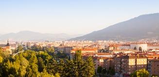 Vista dei distretti residenziali di Pamplona Fotografia Stock