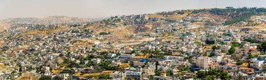 Vista dei distretti residenziali a Gerusalemme Fotografia Stock