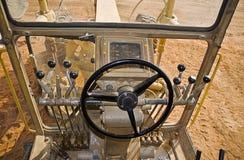 Vista dei driver del trattore a cingoli 140H Fotografie Stock