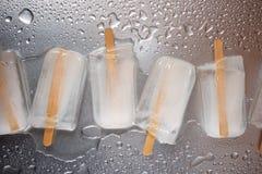 Vista dei ghiaccioli del ghiaccio Fotografie Stock Libere da Diritti