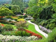 Vista dei giardini Sunken immagini stock libere da diritti