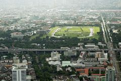 Vista dei grattacieli del ` s di Bangkok Fotografia Stock Libera da Diritti