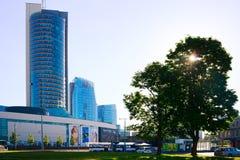 Vista dei grattacieli della città di Vilnius nuova il 6 giugno 2015 Fotografie Stock