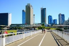 Vista dei grattacieli della città di Vilnius nuova il 6 giugno 2015 Fotografia Stock