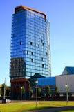 Vista dei grattacieli della città di Vilnius nuova il 6 giugno 2015 Immagine Stock